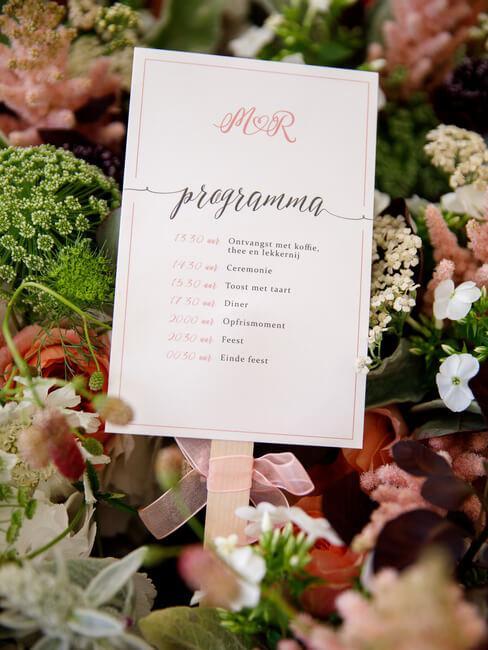 Planning van de bruiloft
