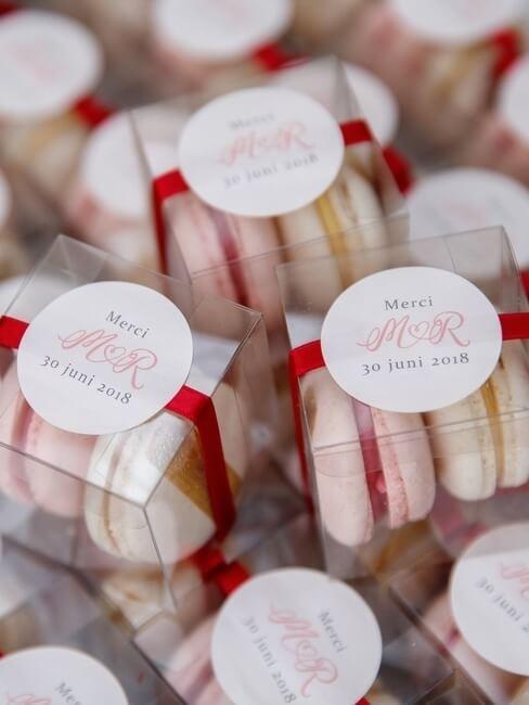 Macaron als bedankje voor bruiloft