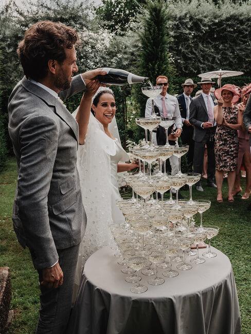 champagnefontein op bruiloft