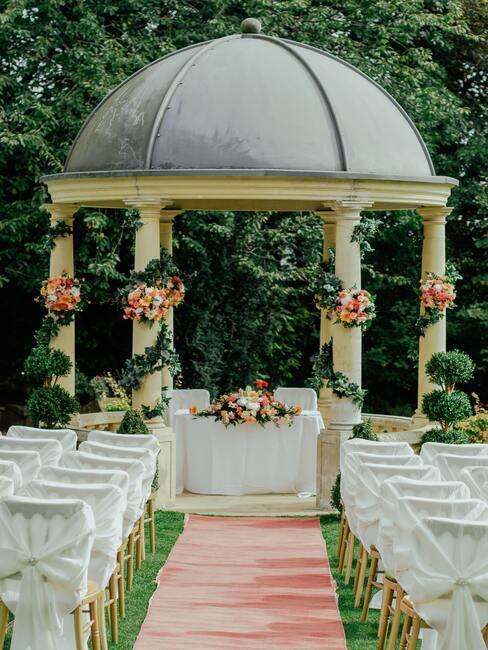 prieel voor huwelijksceremonie