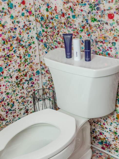 toilet behangen