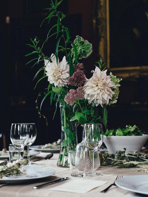 bruiloft inspiratie: gedekte tafel