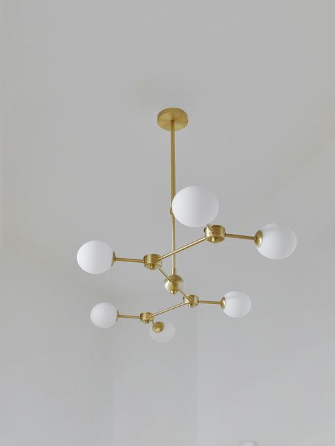 gouden plafondlamp