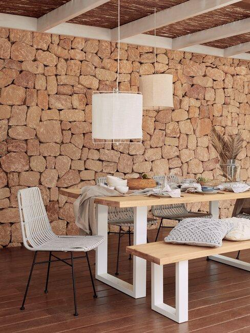 terras met houten planken