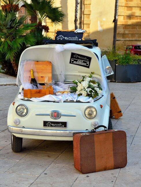 trouwen in italie met een fiat als vervoer
