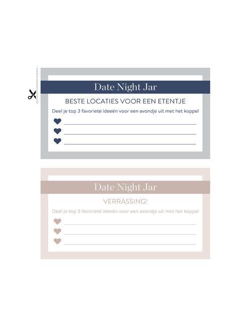 date night jar Westwing kaart