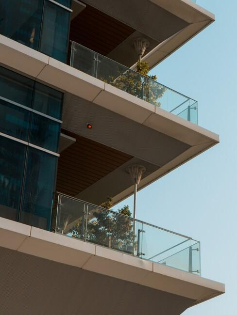 glazen balkonnen