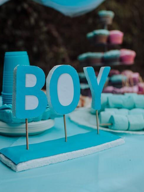 babyshower organiseren voor een jongen