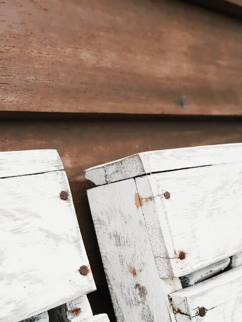 houten witte planken