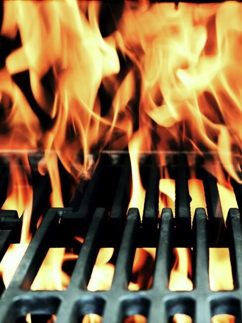 vuur bij roosters