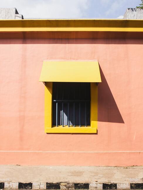 geel zonnenscherm