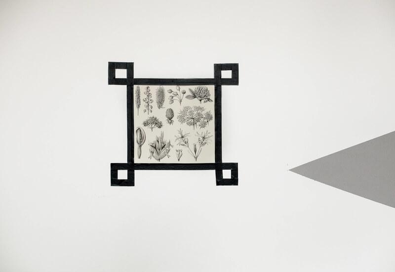 Washi tape poster aan de muur