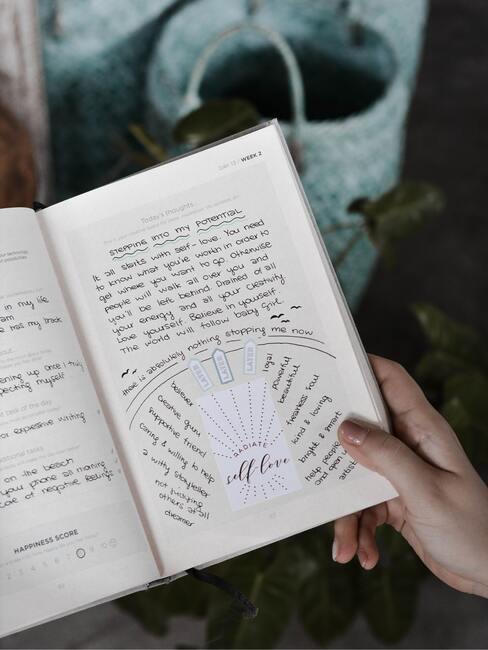 boekje met notities