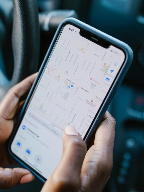 telefoon met GPS