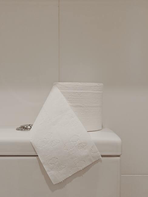 witte tegels met wc papier