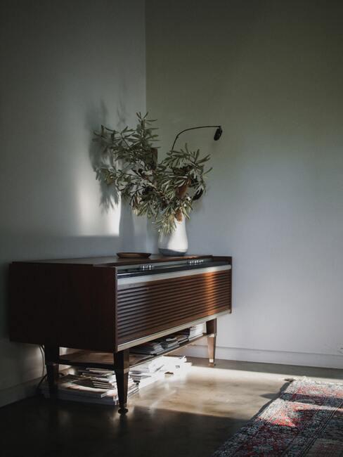 vintage woonkamer met piano