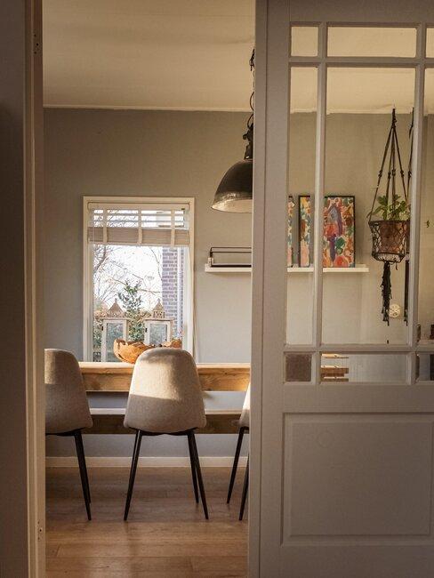schuifdeur tussen woonkamer en keuken