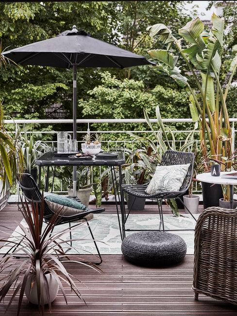 tropisch balkon