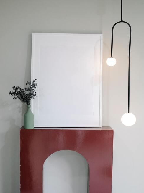 rode haard met zwarte lamp