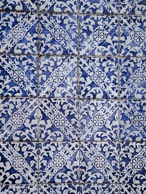 Portugese blauwe tegels