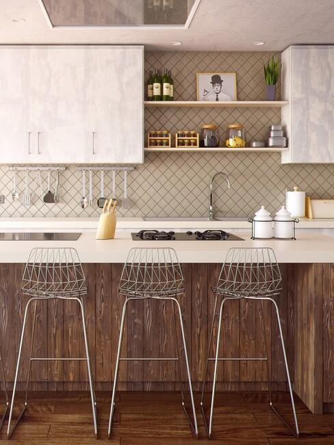 barkrukken in keuken