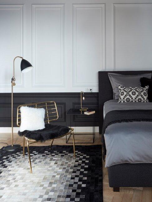 monochroom en hotel chique in slaapkamer