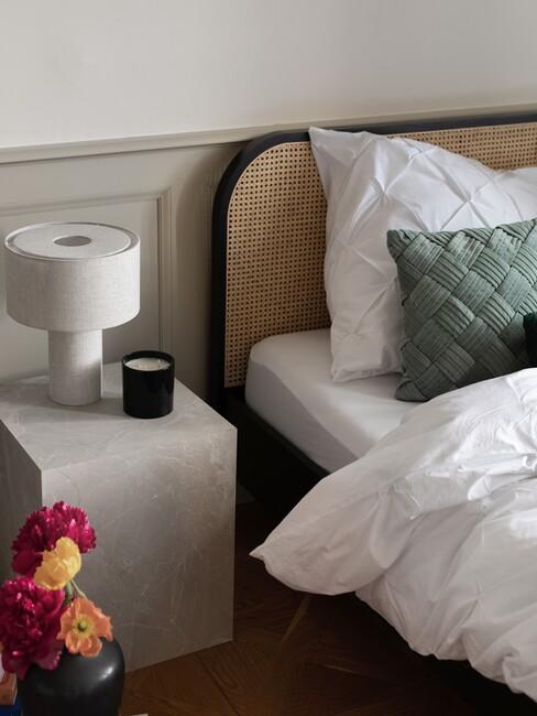 slaapkamer in hotel chique stijl