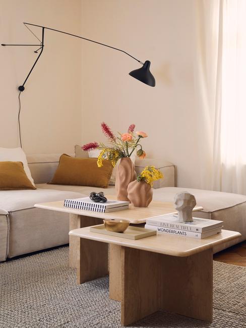 woonkamer in scandi stijl