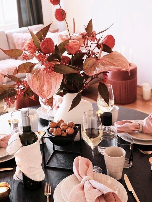 herfstboeket op tafel