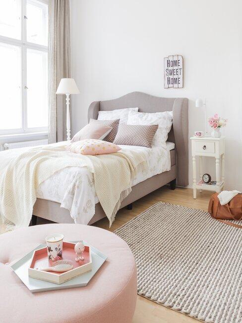 slaapkamer in romantische stijl