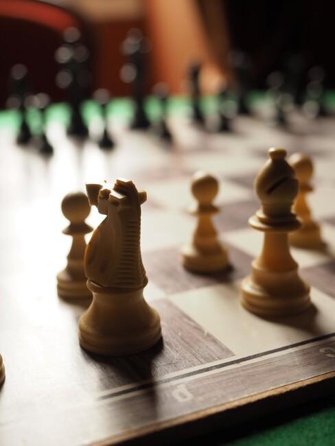 schaakbord voor een gezellige avond