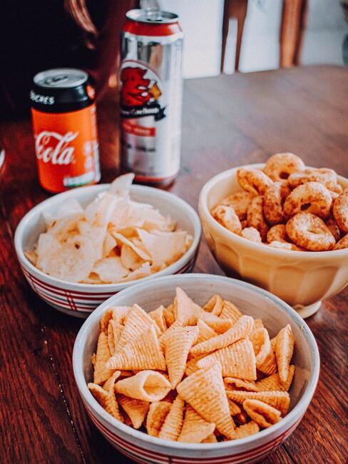 snacks voor een gezellige avond