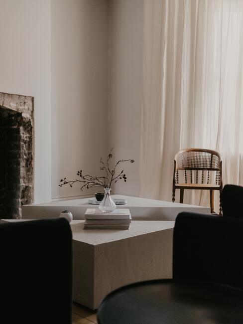 woonkamer met salontafel