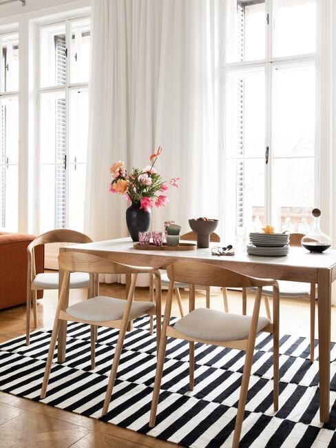 geometrische vormen in woonkamer