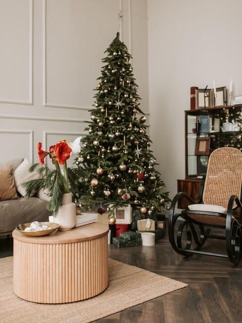 kerstboom in organische stijl