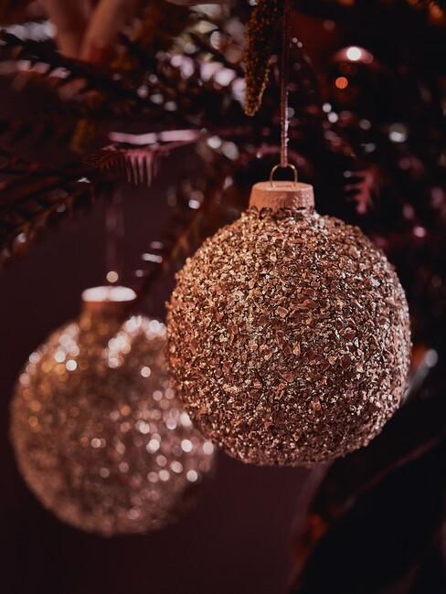 glitter kerstballen