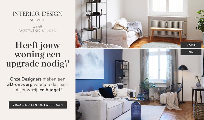 Westwing's interieur design service richt jouw woonkamer in