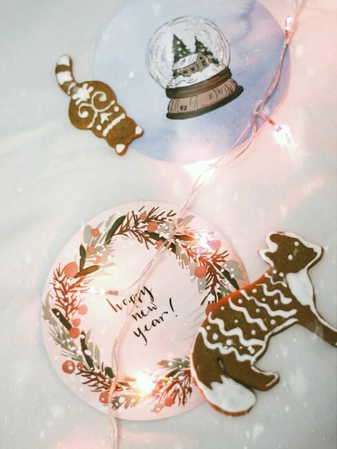 kerst ideeen: nieuwjaar kaarten knutselen