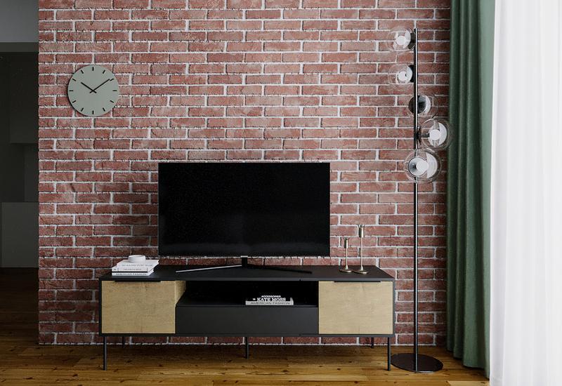 3-D interieurontwerp voor de woonkamer in een ruim huis in luxe herenhuisstij