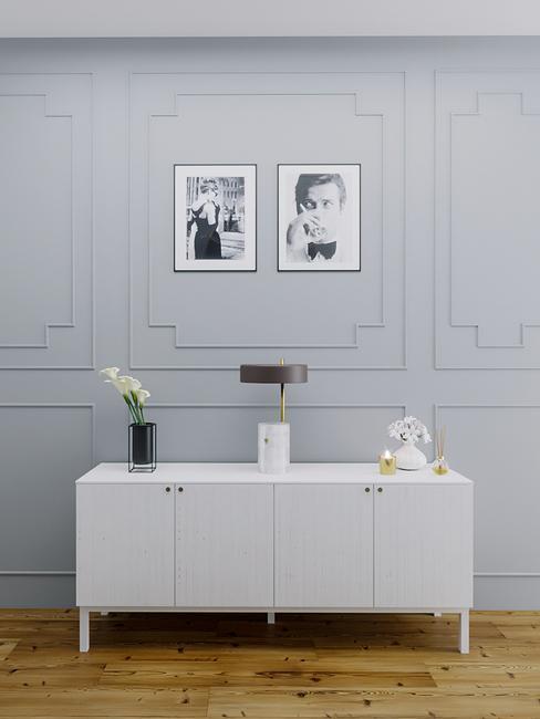 3-D interieurontwerp van hal voor ruim huis in luxe herenhuisstijl