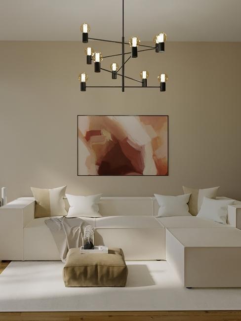 Woonkamer ingericht door de westwing interior design service in beige tinten