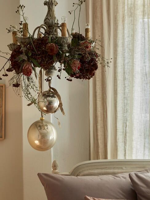 Kerst decoratie aan het plafond