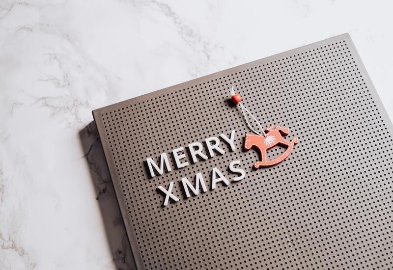 kerstspreuken op letterbord