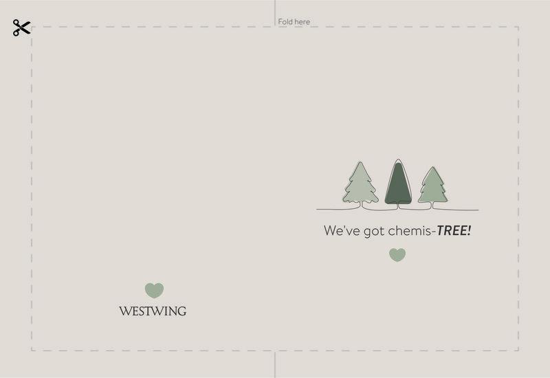 westwing kerstkaart kerstbomen