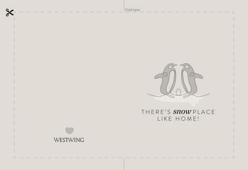 westwing kerstkaart pinguins