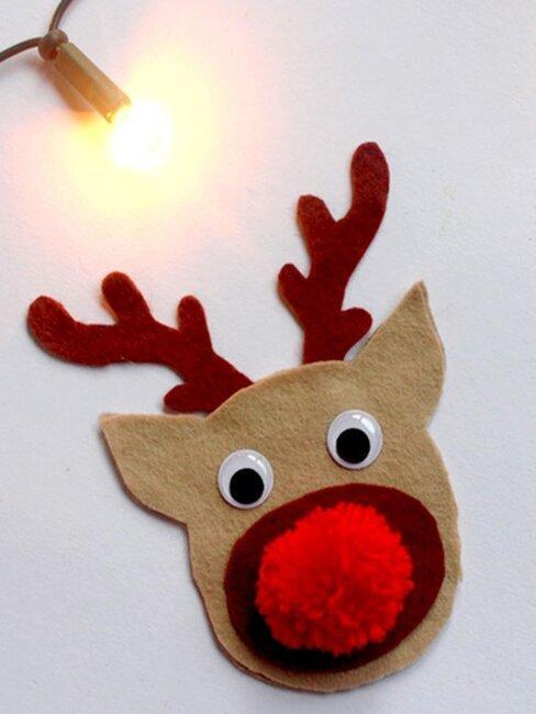 Rudolf het rendier zelf knutselen