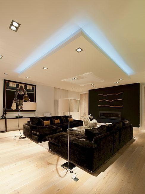 sufit podwieszany w nowoczesnym mieszkaniu