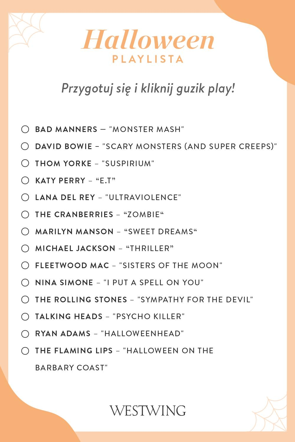 Playlista piosenek na halloween