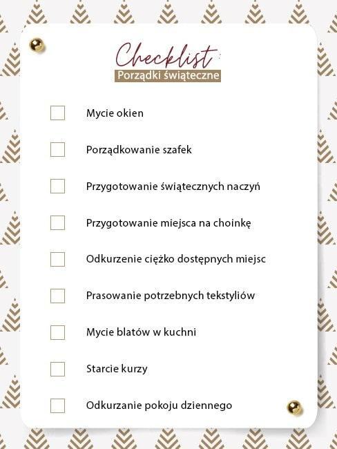 Checklista świątecznych porządków przygotowana przez Westwing do pobrania