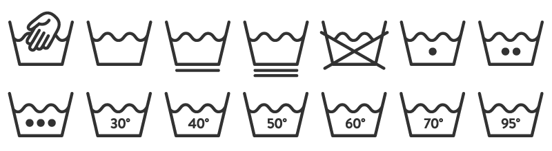 oznaczenia prania symbole